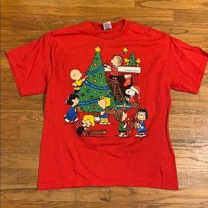 Peanuts Christmas's shirt Large